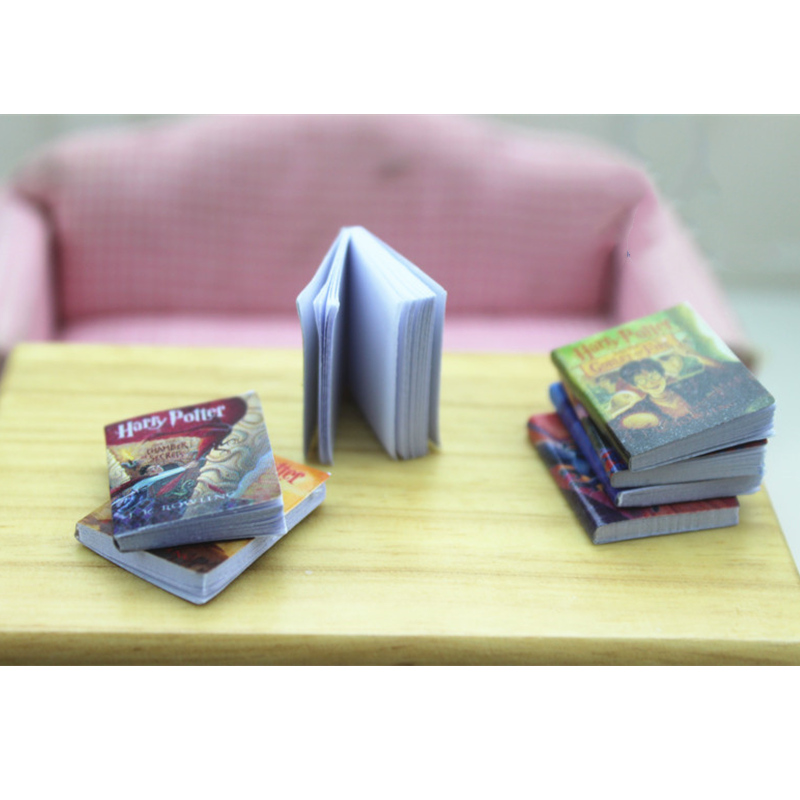 1/12 Scale Dollhouse Miniature Scene Accessories Book Set Mini Magic Books Model For 1/6 1/12 Doll Action Figures Decoration