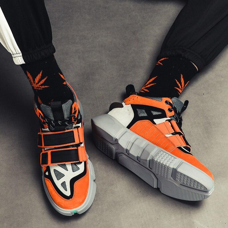 2018 Hommes de Spike Chaussures Low Top Géométrique En Forme de Dentelle up Sneaker Bout rond Denim Tissu Sapatos Hommes Casual Chaussures Plus La Taille EU39 47 - 4