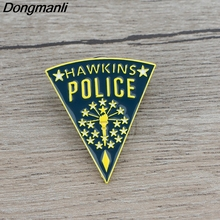 K525 Hot TV Stranger Things Cool Pins Enamel Brooches for Women Men Lapel pin Cartoon Metal Badge Collar Jewelry Gifts 1pcs