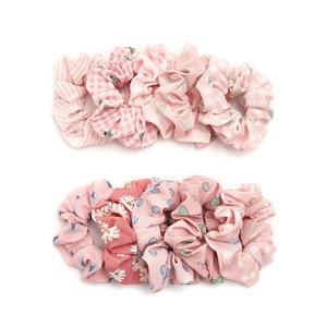 2020 новый дизайн, розовые резинки, набор из 10 предметов, оптовая продажа, для девочек, резинки для волос, набор, милые волосы, веревка для конск...