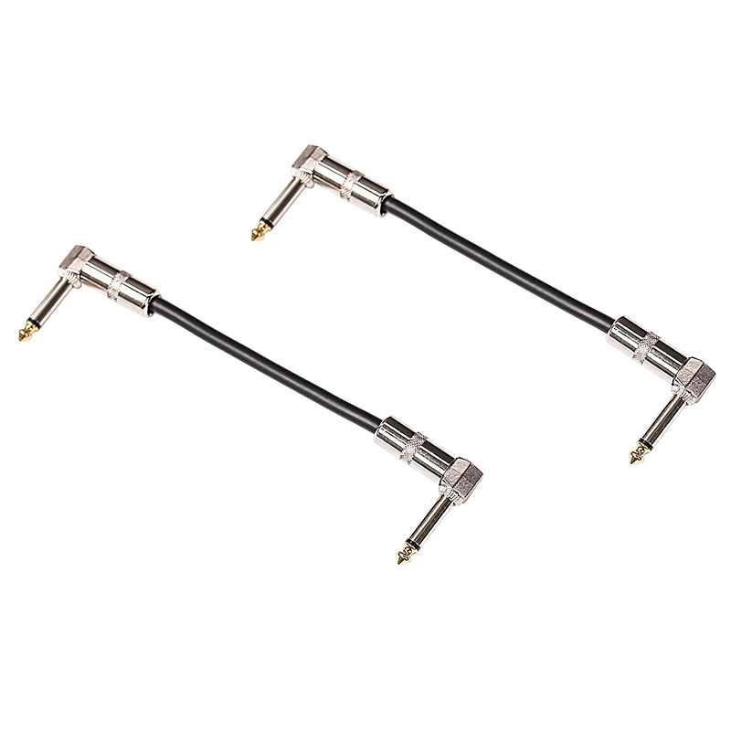 2Pcs 15cm Length Universal 6.35mm Guitar Effect Pedal Power Supply Cable Wire Guitar Effects Power Line For Electric Guitar Squa