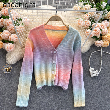 Soft Rainbow Knitted Cardigan 1