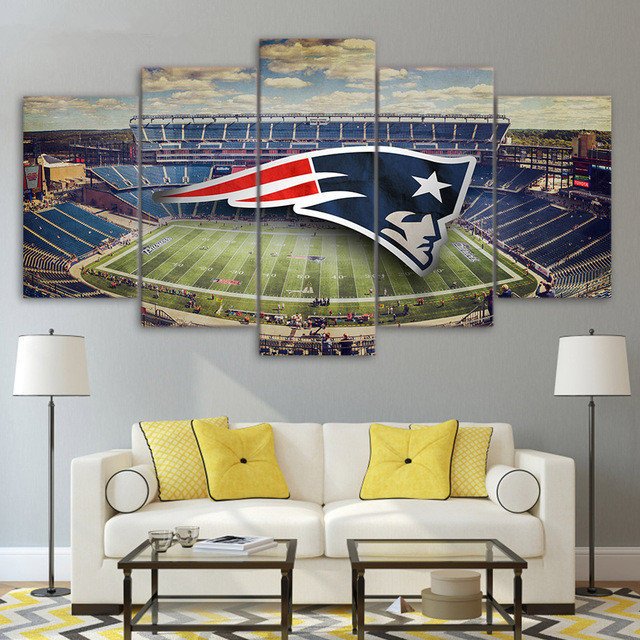 New-england-patriots-stadium-posters-for-living-room-canvas-painting-wall-pictures-Of-5-piece-canvas