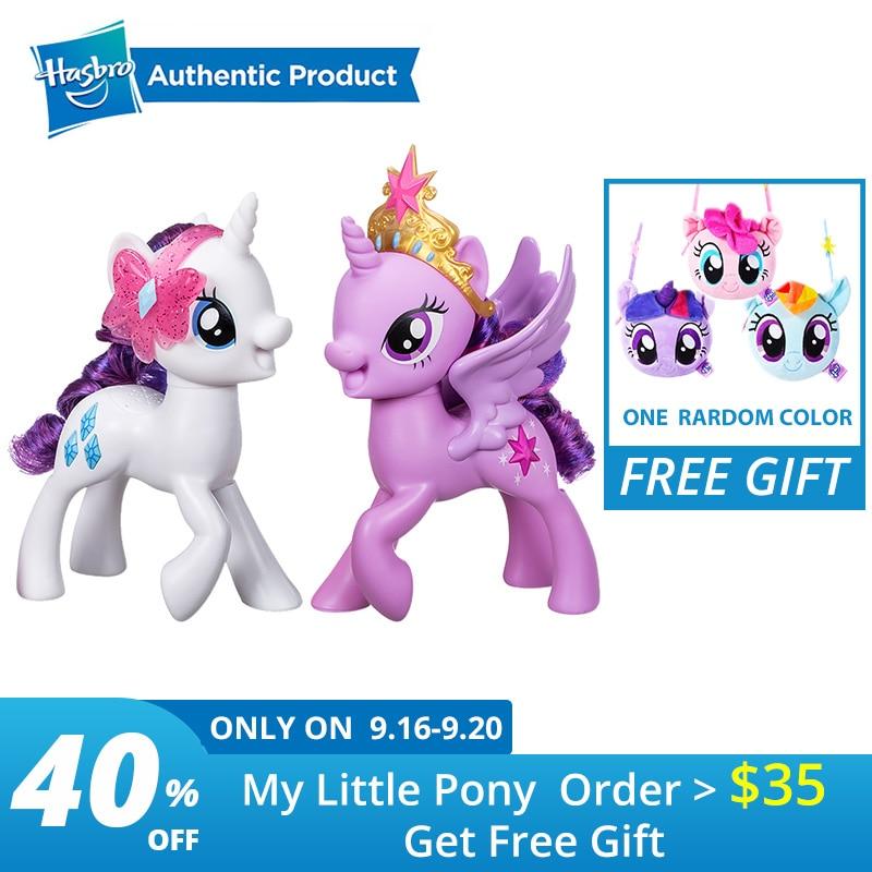 Hasbro mon petit poney rencontre rareté poney rencontre crépuscule Figure avec accessoires collier jouet pour amis filles poupées cadeaux cadeaux
