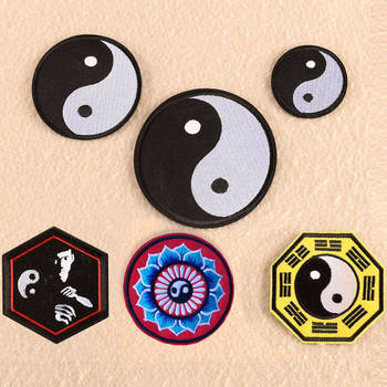 Chinese Kung Fu Tai Chi Patches for Clothing Iron on Bruce Lee Embroidered Patches Badges for Stripe Appliques Jeans Stickers image