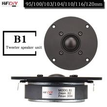 HIFIDIY لايف 4 ~ 4.5 بوصة مكبر الصوت وحدة مكبر الصوت غشاء الحرير الأسود 4/8OHM 30 واط ATreble مكبر الصوت B1 95/100/103/104/108/110/116 مللي متر