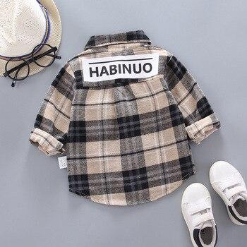 Baby Boy's Plaid Cotton Long Sleeve Shirt 2