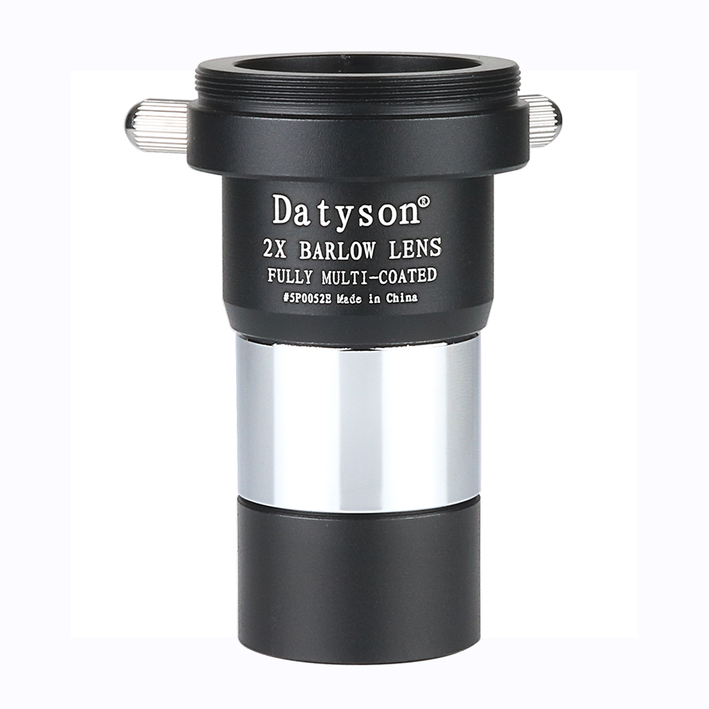 Объектив Datyson 1,25 дюйма Barlow 2X полностью многослойный металлический передний конец с резьбой фильтра и обратной стороной с резьбой камеры M42x0....