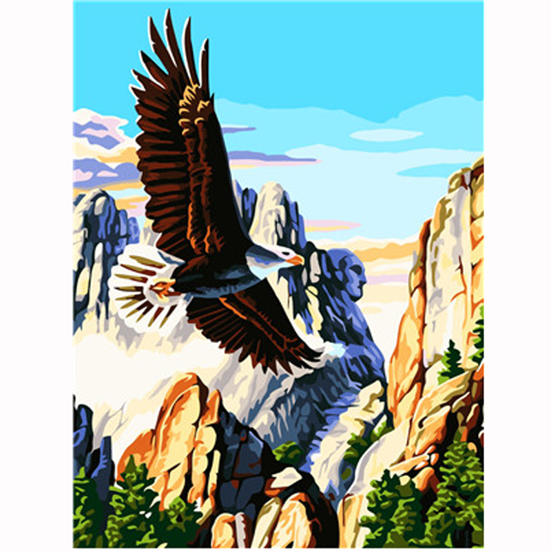 Flying Eagle Art Picture DIY Painting By Numbers Adults Gift Coloring By Number Draw On Canvas Acrylic Oil Paintings Home Decor