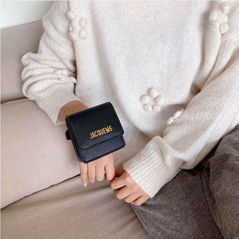 Women Hand Bag 2020 Fashion PU Leather Wrist Bag Ladies Mini Small Coin Purses Casual Square Clutch Bag Unisex Sport Running Bag