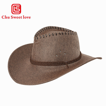 Men Cowboy Hat Cool Western Hats Sun Visor Cap Women Travel Performance Gentleman Curling