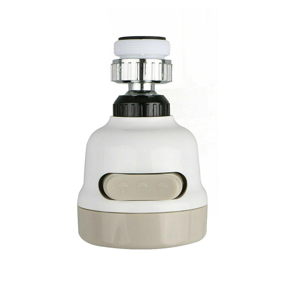 Moveable Kitchen Tap Head 360° Rotating Faucet Water Saving Filter Sprayer Tool White Tap Splash Regulators