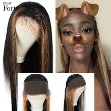 Реми Форте 30 дюймов кружева передние парики человеческих волос 13x4 Боб прямо парик бразильские волосы парики золотой блондинка черные парики ломбер для женщин