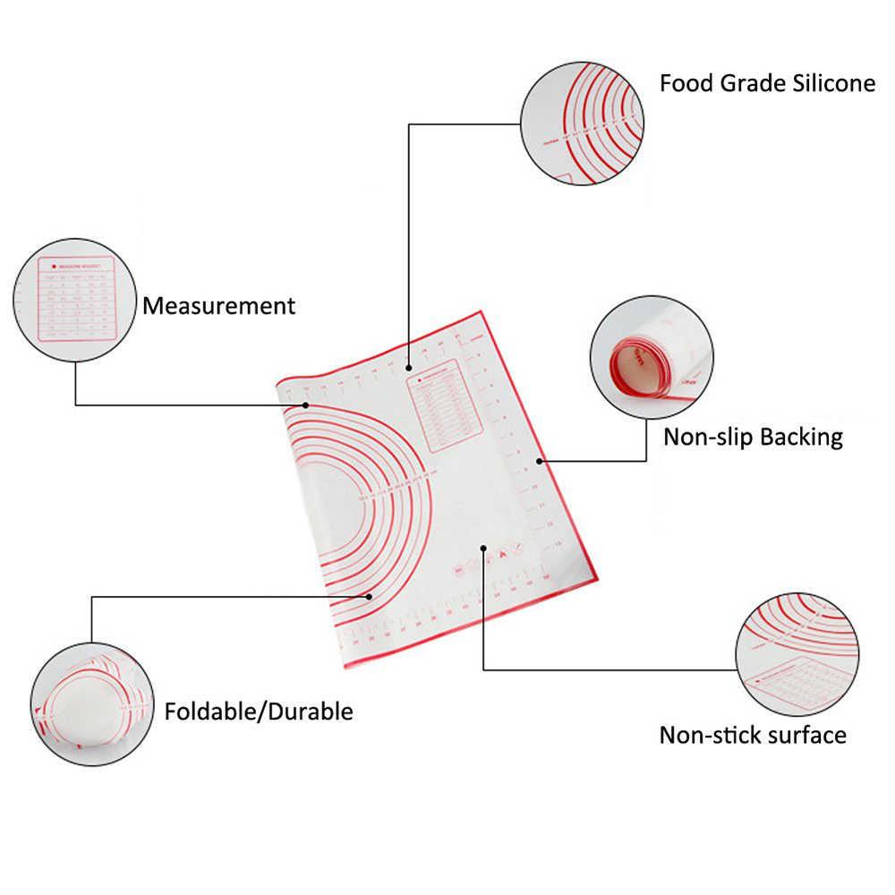 Силиконовый коврик для выпечки изготовитель коржей для пиццы Кондитерские Кухонные гаджеты кухонные принадлежности Посуда для выпечки Разминающие аксессуары