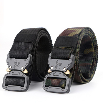New Nylon Belt Men Army Tactical Molle Military SWAT Combat Belts Knock Off Emergency Survival Waist Gear Dropship