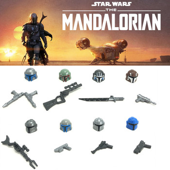 Single sale Star Wars Figures Toy Mandalorian Block Action Figure Building Blocks Figurine Stacking Bricks Toys for Childre/Boys single sale modok george tarleton from hulk lab smash set building blocks super heroes bricks action toys for children kf918