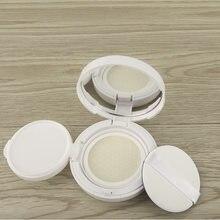 Mini branco 15g/0.5oz bb creme caso vazio com pó sopro fundação portátil diy caixa de almofada de ar caso de maquiagem recipiente cosmético