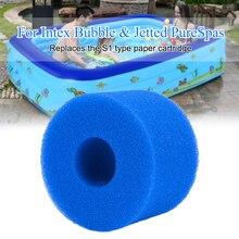 Многоразовый плавание губка картридж пена открытый закрытый удобный легкий мини пена фильтр губки плавание аксессуары