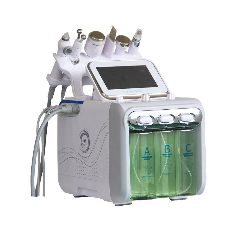 2019 NEW !  6 In 1 Hydrogen &oxygen Small Bubbles Face Cleaning Beauty Machine Newest Intraceuticals Oxygen Water Facial Machine