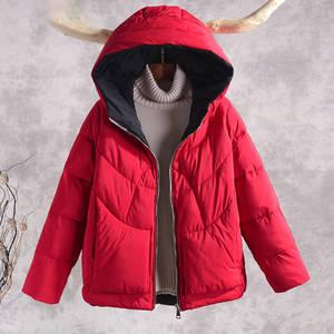 Image 3 - Sonbahar kış sıcak kalın mont kadın ceketler yeni moda kapüşonlu rahat pamuk Parka kadın kabanlar palto P130