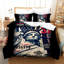 Fashion Graffiti Bedding Set Duvet Covers Pillowcases Skull 3D Retro Style Flamingo Comforter Sets Bedclothes Bed Linen