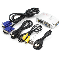 Rca-Switch-Box Converter Adapter Monitor Composite Vga To TV PC AV for Laptop