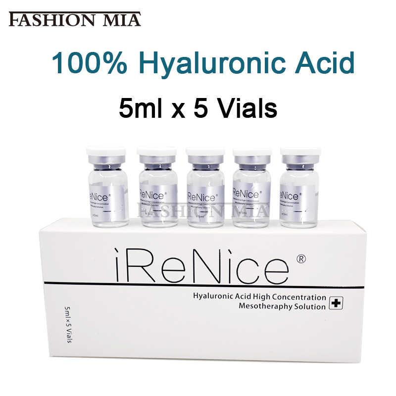 5mlx5 Lọ Chéo Liên Kết Hyaluronic Acid Nguyên Chất Micro Phân Tử Nước Mesotherapy Hà Collagen Axit Hyaluronic Serum Làm Trắng Da