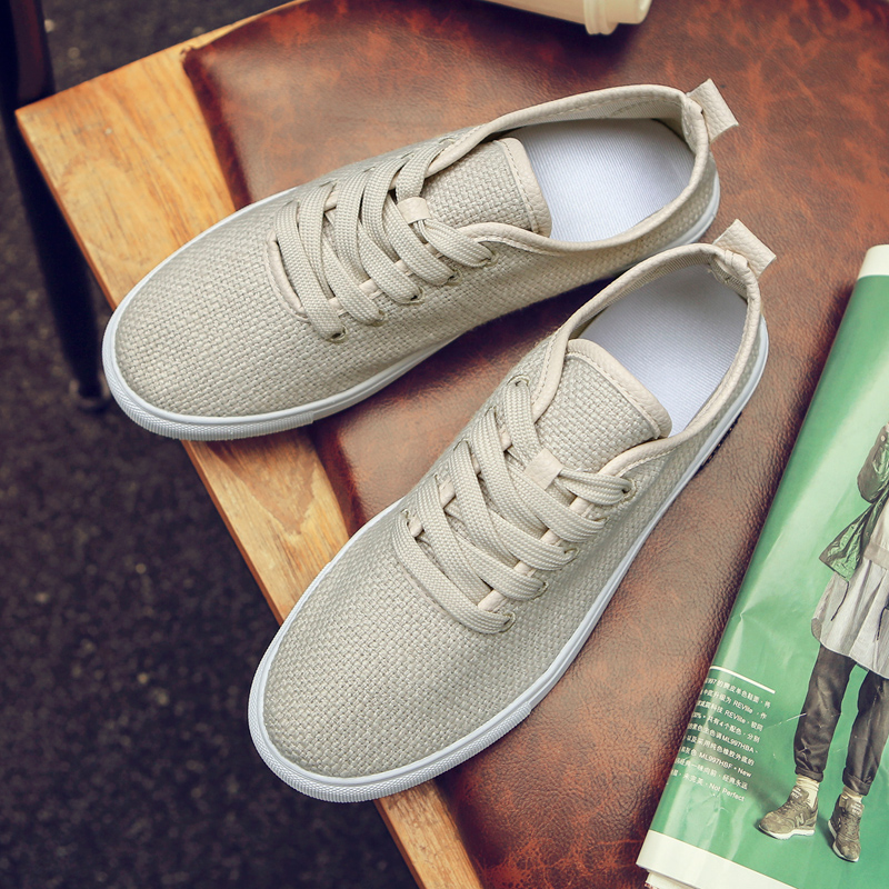 Lacing Fashion Solid Color Breathable Cozy Shoes Men's Shoes Couple Lover Lightweight Footwear NEW Zapatos De Hombre Loafers