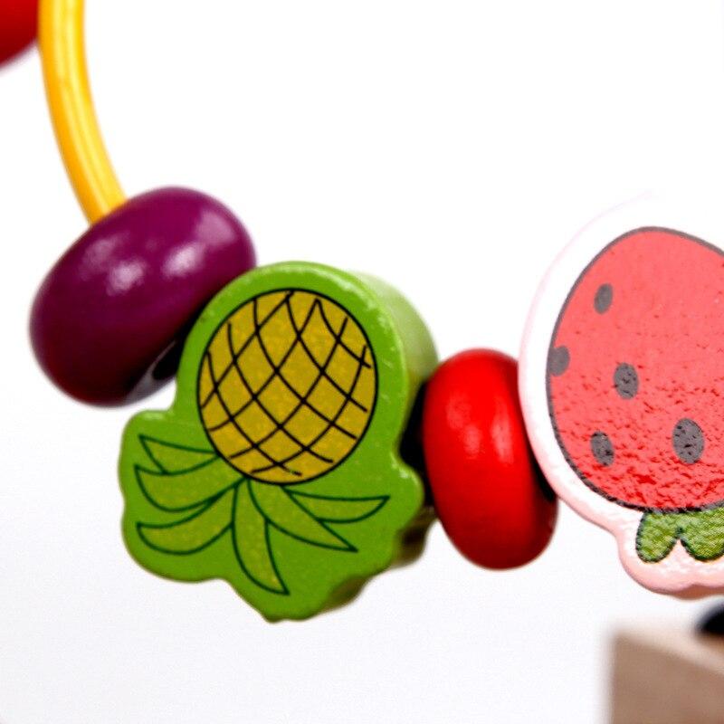 MWZ Large Size Building Blocks Fruit Bead-stringing Toy Beaded Bracelet Infants Wood Early Childhood Educational Children Bead-s