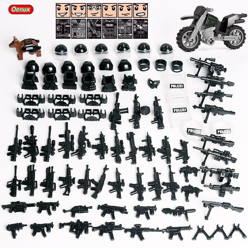 Oenux новый городской спецназ мини Полиция солдаты цифры военные строительные блоки, кирпичные спецназа армии блок оружия кирпичные игрушки ...
