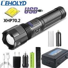 Haute qualité XHP70.2 chasse tactique Led lampe de poche puissance par 18650 AAA batterie Usb Rechargeable torche Zoomable XHP50.2 lanterne