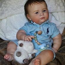 Rbg kit renascer bebê kit de vinil 23 polegadas 3 mês joseph unpainted inacabado peças boneca diy em branco reborn kit de boneca de vinil