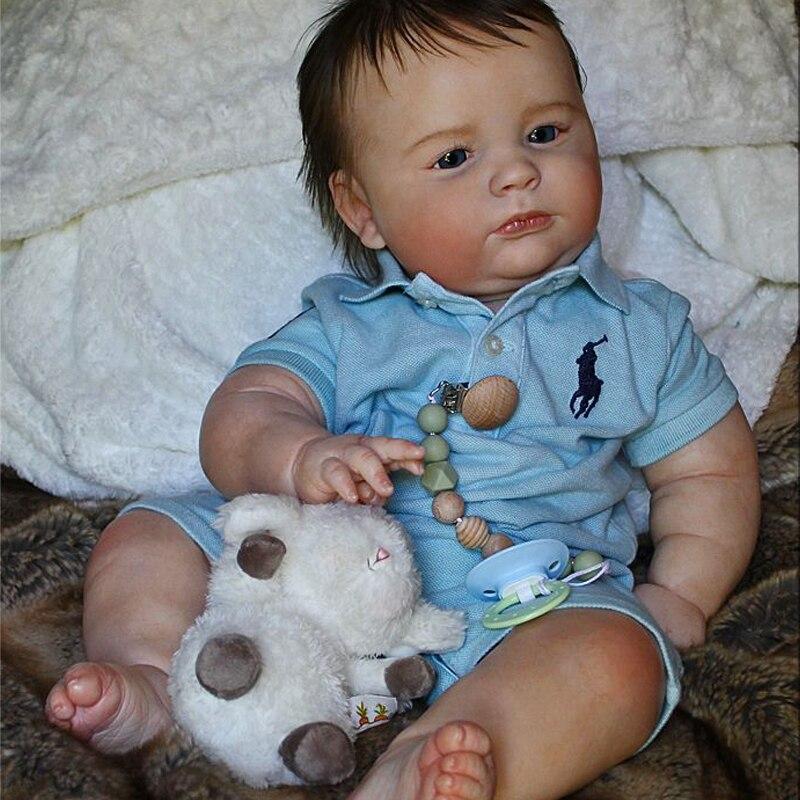 Rbg kit renascer bebê kit de vinil 23 polegadas 3 mês joseph unpainted inacabado peças boneca diy em branco reborn kit de boneca de vinil| |   -