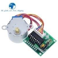TZT-Motor paso a paso de 4 fases + Placa de controlador ULN2003, 28BYJ-48-5V, para Arduino 1 x motor paso a paso + 1x ULN2003, 1 lote