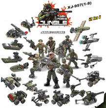 Современные miliary джунгли тактическая группа армейские фигурки