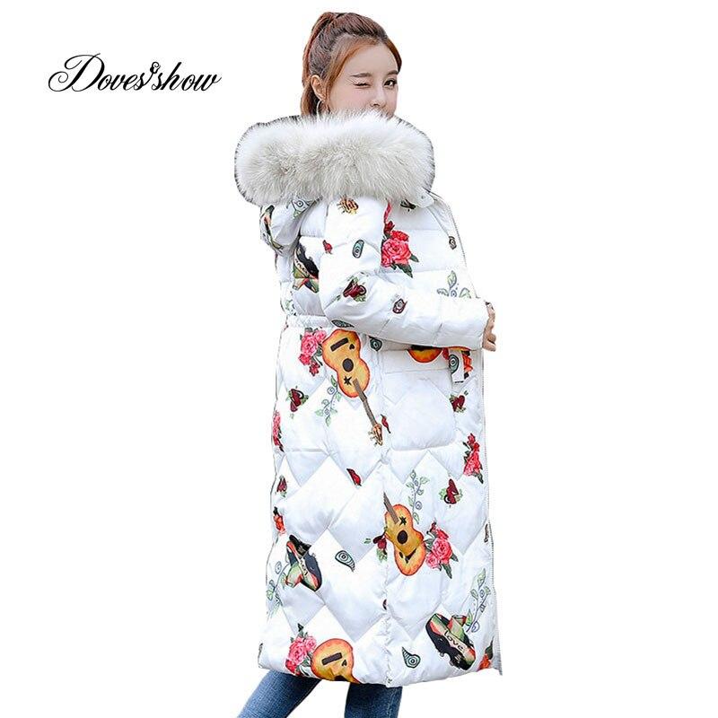 Gola de pele reversível com capuz inverno para baixo casaco longo grosso quente mulher casaco feminino abrigos mujer invierno wadded parkas