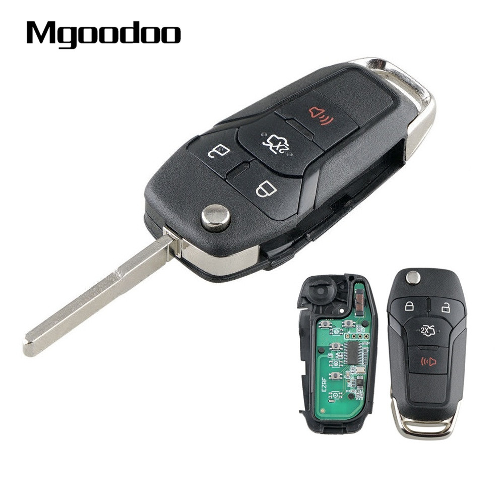 4 Buttons Smart Flip Remote <font><b>Key</b></font> Keyless Entry Fob For <font><b>Ford</b></font> <font><b>Fusion</b></font> 2013 2014 <font><b>2015</b></font> 2016 FCC ID N5F-A08TAA IC 3248-A08TAA 315MHz image