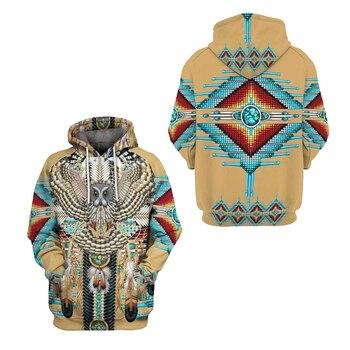 Native Indian 3D Hoodies/sweatshirts Tee Men Women New Fashion Hooded winter Autumn Long Sleeve streetwear Pullover Style-19