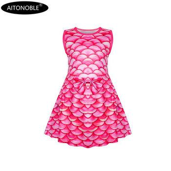 2020 Aitonoble nowa wiosna-lato mała sukienka syrenka dziewczęca sukienka bez rękawów księżniczka sukienka cosplay koszula nocna tanie i dobre opinie Pasuje prawda na wymiar weź swój normalny rozmiar Poliester Elastan ADSS2505