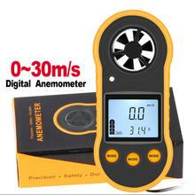 цена на Anemometers Anemometer Lcd Digital Wind Speed Meter Portable Anemometer Sensor Wind Speed 40DC25