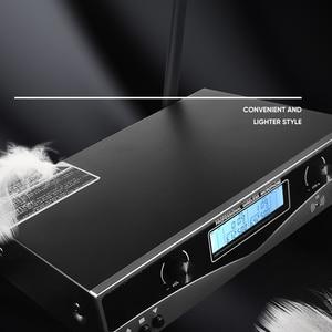 Image 4 - سوم SKM9100 أداء مسرحي منزلي KTV جودة عالية UHF احترافي مزدوج ميكروفون لاسلكي نظام ديناميكي للمسافات الطويلة
