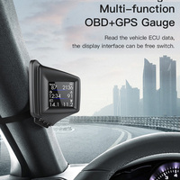 Sistema Dual OBD GPS para coche, pantalla frontal, velocímetro Digital, pantalla LCD de 2 pulgadas, alarma de exceso de velocidad, proyector de velocidad