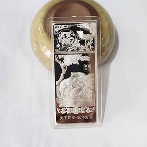 2020 год крысы, креативная медаль, памятная Серебряная монета, Китайский Зодиак, сувенир, счастливый подарок 7 см x 3 см