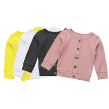 Baby-Girl-Boy Jackets Sweater Solid-Coat Newborn Infant Top Autumn Knitted Long-Sleeve
