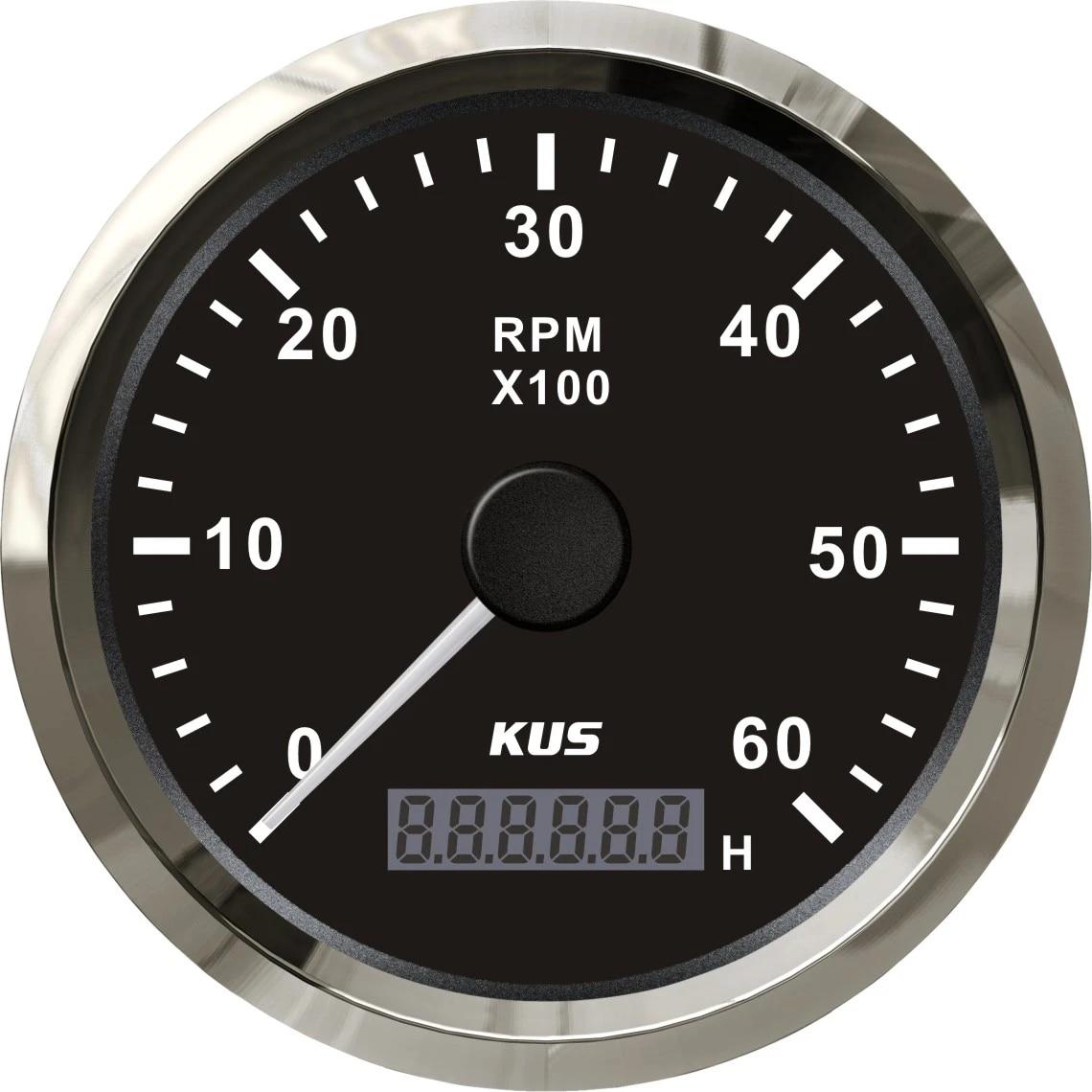 85mm Car Truck Tachometer 6000 RPM Engine Tacho Gauge w// Hour Meter 8 Color LED