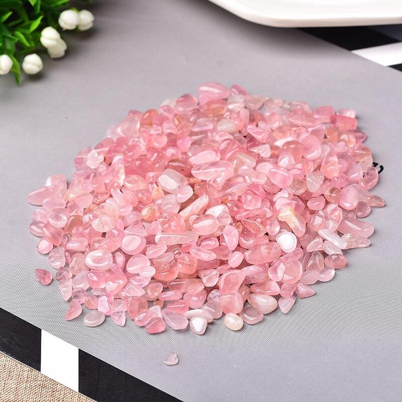 Natural de cristal rosa quartzo minério mineral espécime cura pedra natural colorido quartzo para aquário pedra decoração para casa diy