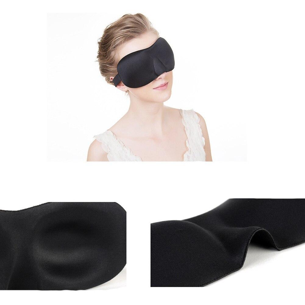 Czarny 3D maska do spania 23*7.5cm łagodna do snu maska na oczy pielęgnacja na noc oddychać masażer osłona oczu Sleepmasker