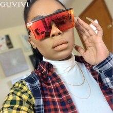 Luxury Brand Oversized Sunglasses Square Vintage Transparent