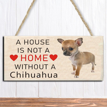 Home-Decoration Wooden Sign Listing Hanging Dog Funny Chihuahua