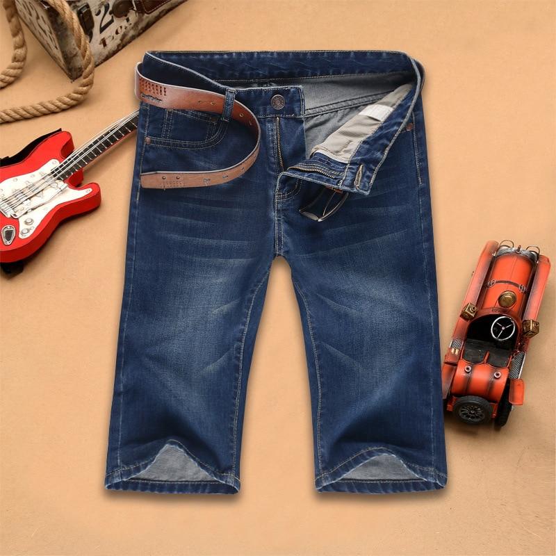 Summer New Style MEN'S Jeans Young MEN'S Pencil Pants Knee-length Denim Shorts Big Yards Pants Fifth Pants Men'S Wear
